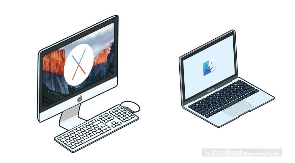 macformat imac macbook stickers - Retro ilustrácie klasických Apple počítačov