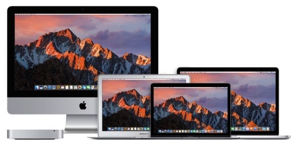 "Mac Devices Family macOS Sierra 600x292 - Intel predstavil nové čipy, čaká nás Core i9 a 13"" MacBook s quad-core?"