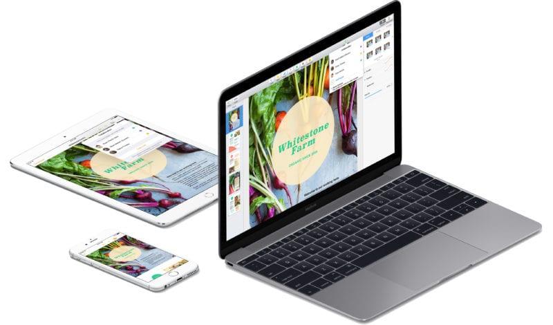 iwork pages mac ios devices 800x470 - iMovie, GarageBand a sada iWork pre Mac a iOS sú odteraz zadarmo pre všetkých