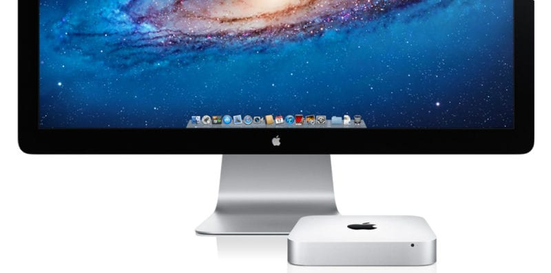 mac mini and thunderbolt display 800x396 - Apple pracuje na 8K displeji a high-endovom Mac Mini