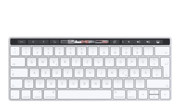 magic keyboard touch bar concept 1 600x373 - Nový iMac by mala sprevádzať aj externá klávesnica s Touch Barom