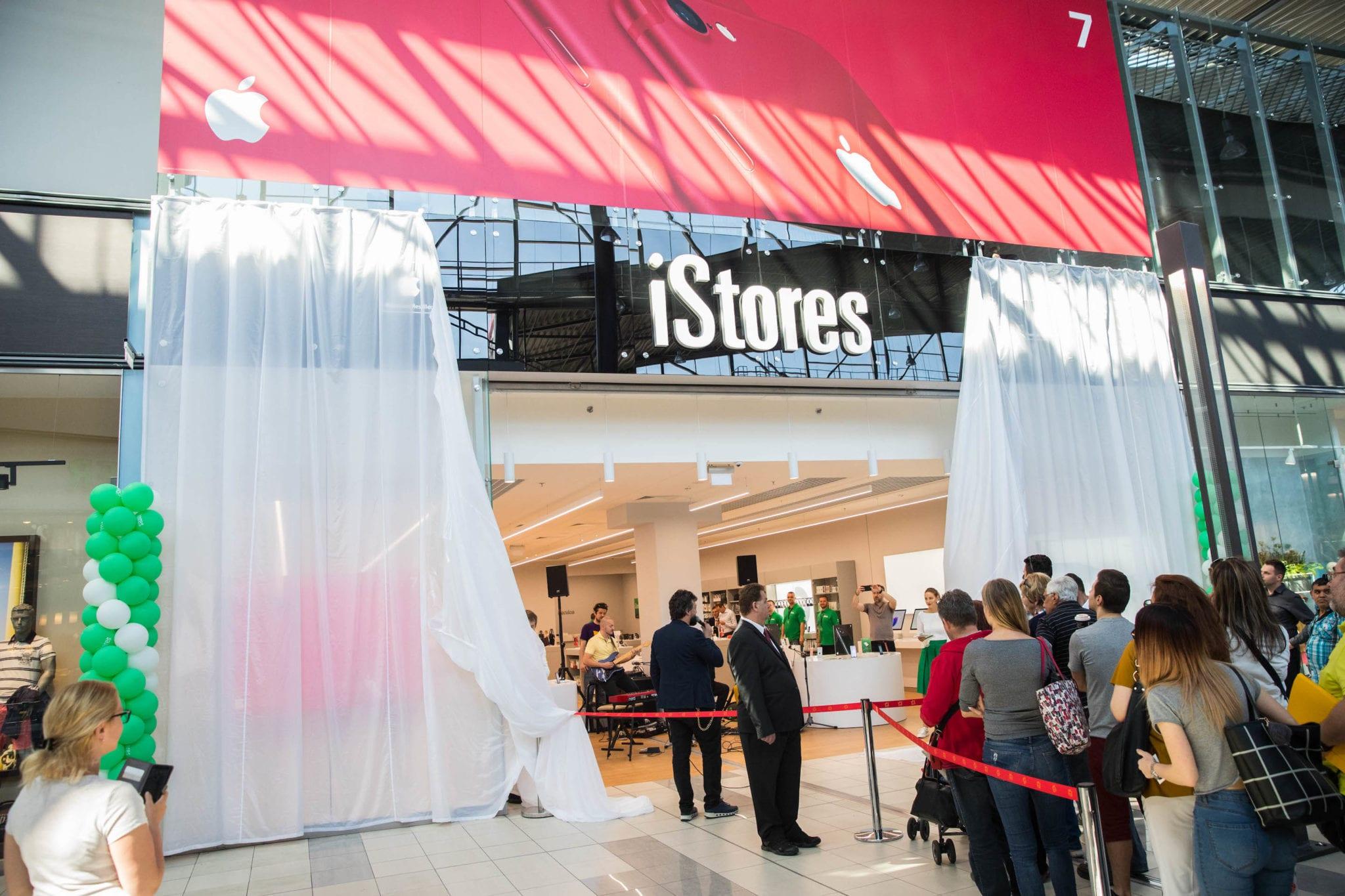 GTF 7105 - iStores otvoril svoju najväčšiu predajňu v OC Avion v Bratislave