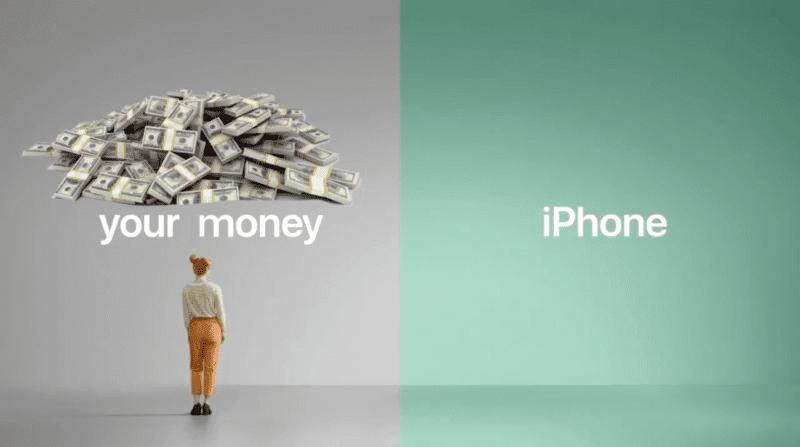 Your Money iPhone Parody Ad