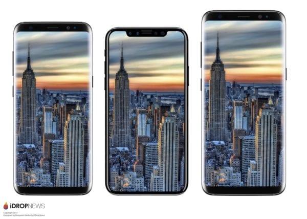 iPhone 8 Size Comparison iDrop News 9 600x428 - iPhone v roku 2018 kompletne prejde na OLED, vyrábať ich bude Samsung