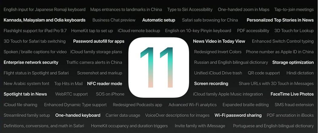 ios 11 feature list - Ktoré zariadenia budú podporovať iOS 11?