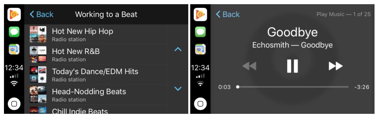 google play music carplay - Google Play Music pre iOS prináša podporu pre CarPlay