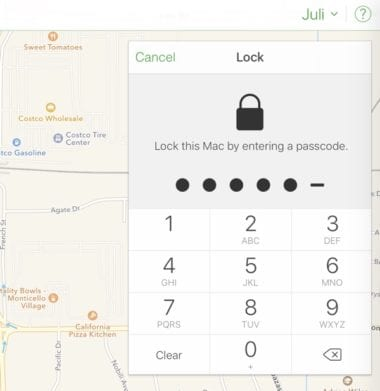 Lock this Mac 380x391 - Hackeři zneužili funkci Find my iPhone k vyžadování výkupného. Jak se chránit?