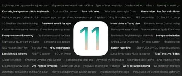 ios 11 feature list 600x252 - Apple vydal iOS 11.2 pre verejných beta testerov
