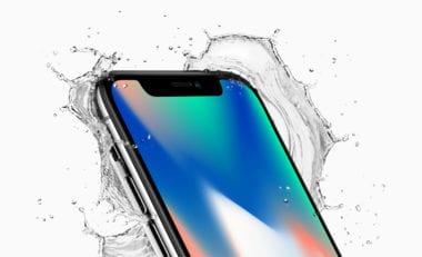 iphone x front crop top corner splash 380x231 - Co očekávat od příštích iPhonů? OLED, šasi z nerezové oceli?