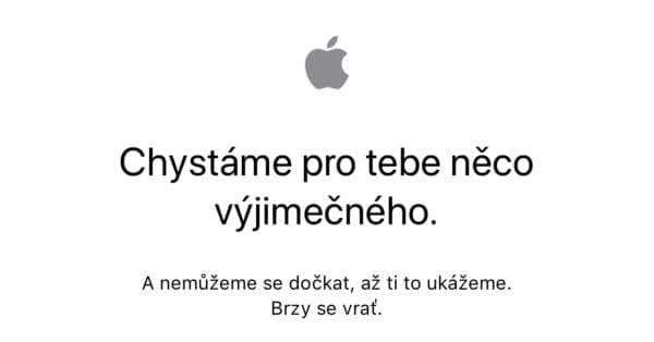 CE32C71F E432 4ED1 89DF 0DF62F08B466 600x314 - Apple už před zahájením předobjednávek vypnul svůj Online Store