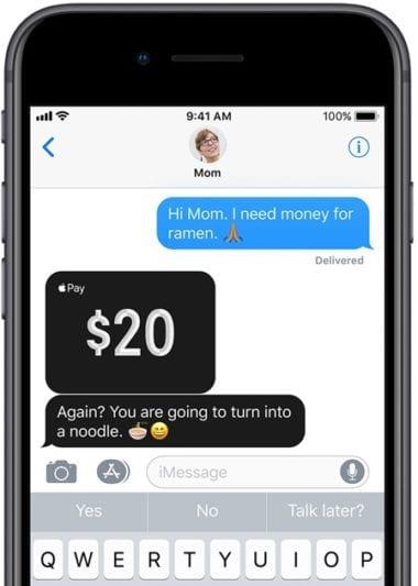 apple pay cash 1 380x533 - Vyšla druhá beta iOS 11.2, prináša Apple Pay Cash