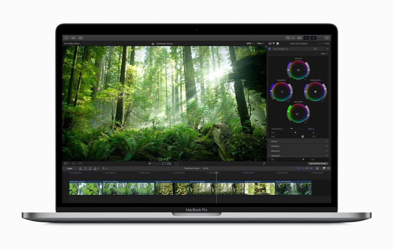Final Cut Pro X MacBook Pro color wheel 20171214 - Vyšiel Final Cut Pro X 10.4, prináša podporu pre 360-stupňové VR videá, HDR, formát HEVC a ďalšie