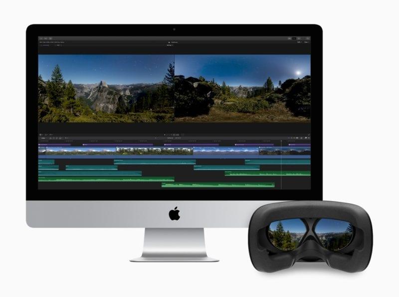 Final Cut Pro X iMac HDR AR 20171214 800x597 - Vyšiel Final Cut Pro X 10.4, prináša podporu pre 360-stupňové VR videá, HDR, formát HEVC a ďalšie