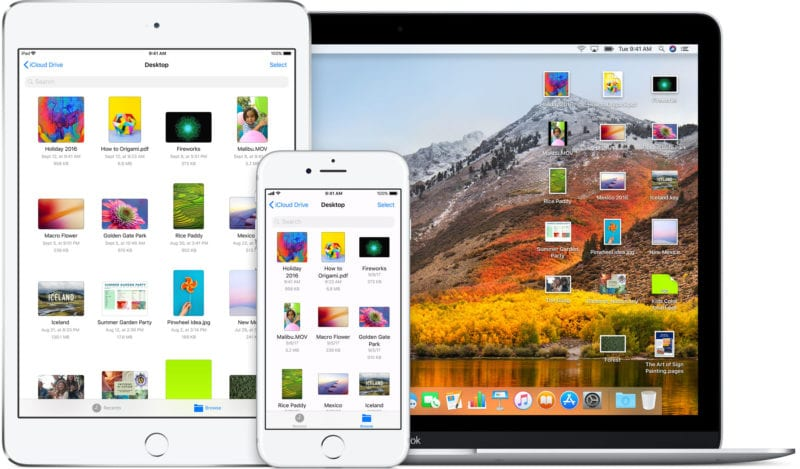icloud drive ios 11 macos high sierra devices iphone ipad macbook 800x469 - Gruber: cross-platform aplikácie pre macOS a iOS prídu až budúci rok