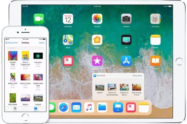 ios 11 iphone ipad devices icloud drive 600x398 - iOS 11 si podľa Applu nainštalovalo už 59 % používateľov