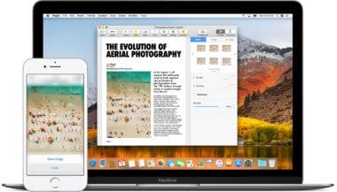 continuity macbook iphone devices icloud macos high sierra 380x217 - Apple vydal macOS High Sierra 10.13.4 s podporou pre eGPU
