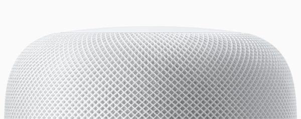 homepod white mesh closeup 600x239 - Tim Cook popsal, čim se nový Apple HomePod odlišuje od ostatních chytrých reproduktorů