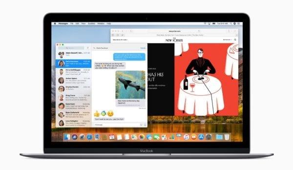 macbook macos high sierra messages safari 600x348 - Chystaný macOS 10.14 sa bude sústrediť na opravy a optimalizáciu, presne ako iOS 12