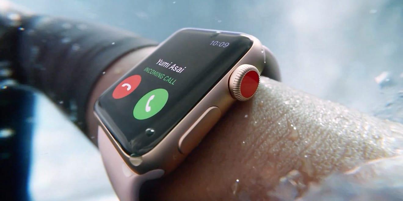 apple watch series 3 cellular call 2017 - Apple Watch Series 3 dominujú trhu so smarthodinkami