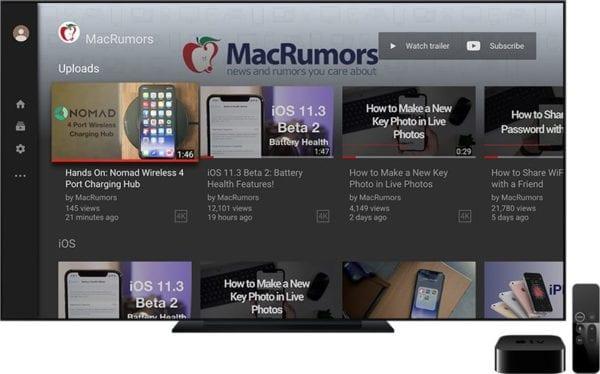 Apple TV 4K YouTube 2018 Revamp