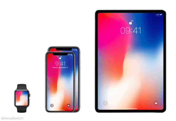 apple lineup 2018 iphone ipad watch concept 600x412 - Bloomberg zhrnul čo môžeme čakať od WWDC 2018