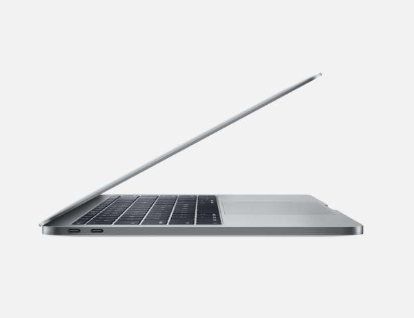 """macbook pro 13 side 600x461 - Apple spustil program výmeny batérie pre 13"""" MacBook Pro bez Touch Baru"""
