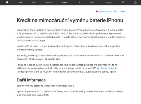 Snímek obrazovky 2018 05 23 v 22.17.09 600x441 - Apple nabídne vrácení ekvivalentu 50$ všem, kteří si v roce 2017 nechali vyměnit baterii v iPhonu 6 a novějším