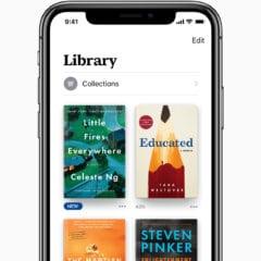 Apple Books Library 06122018 240x240 - Prvý pohľad na nové Apple Books v iOS 12