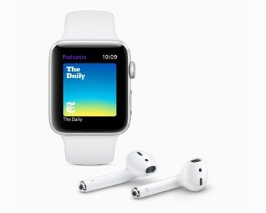 Apple watchOS 5 Podcasts AirPods screen 06042018 380x305 - DigiTimes: Apple vydá AirPods 3 ešte tento rok