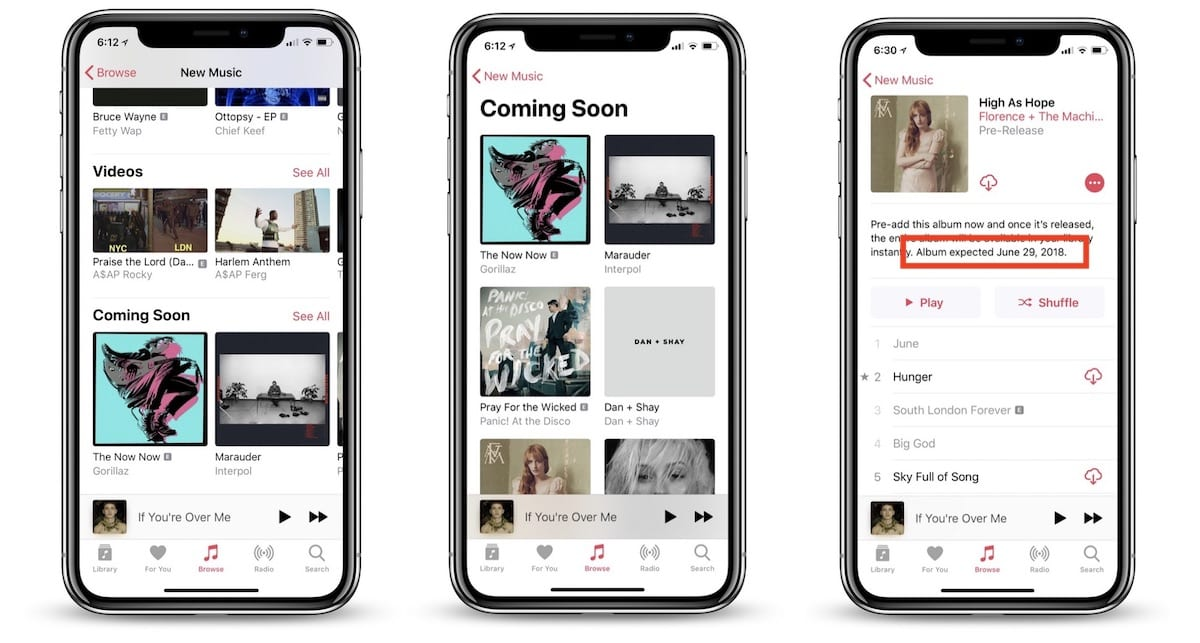 apple music coming soon - Apple Music pridáva sekciu Coming Soon a vylepšenia pre ešte nevydané albumy