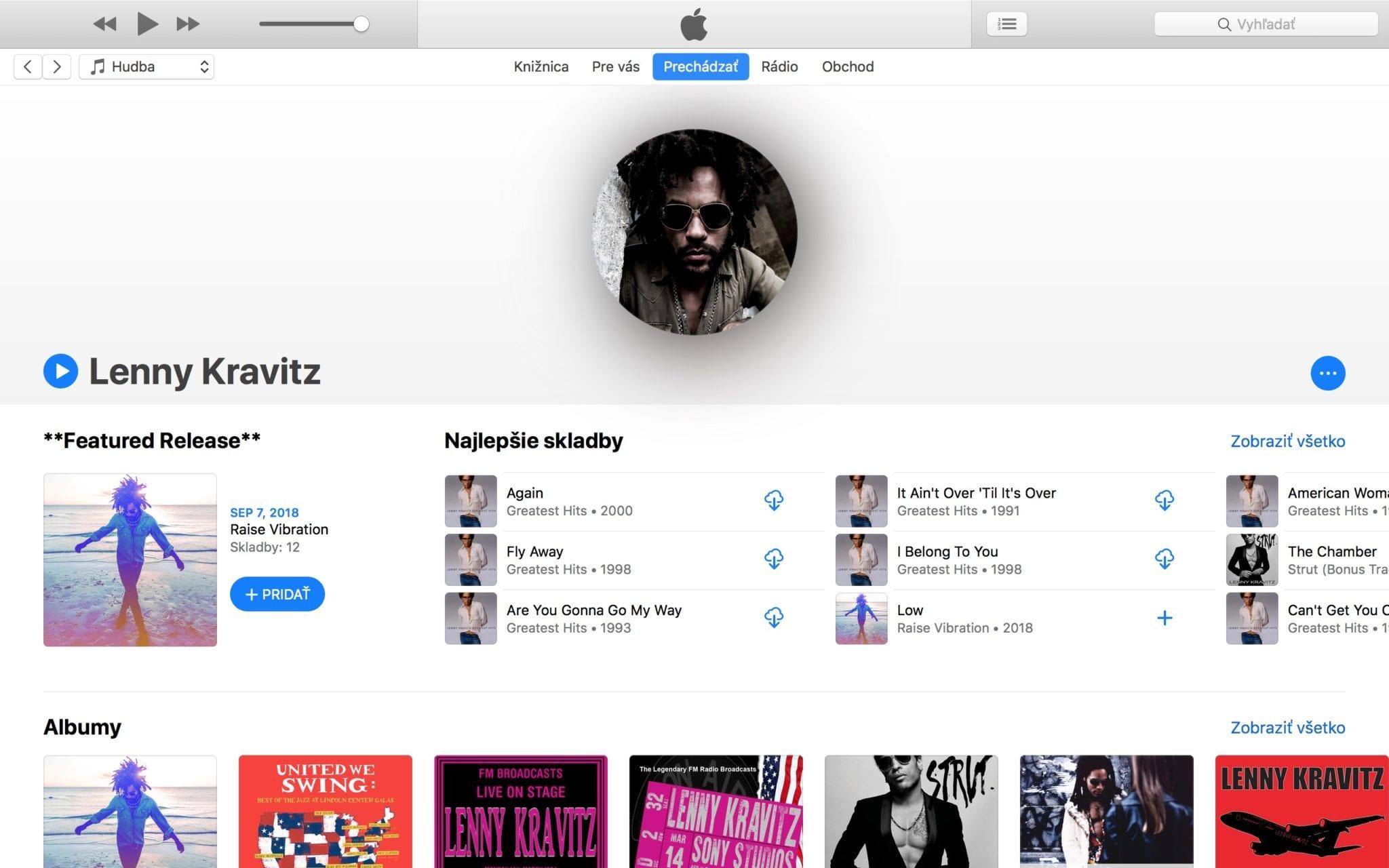 apple music macos itunes artist page - Apple Music pridáva sekciu Coming Soon a vylepšenia pre ešte nevydané albumy
