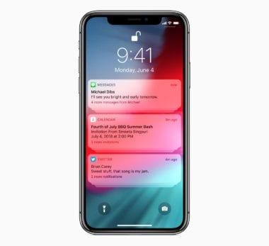 iOS12 Group Notifications 06042018 380x347 - Čo je nové v prvej bete iOS 12.2: podpora smart TV, AirPods 2 a malé dizajnové zmeny