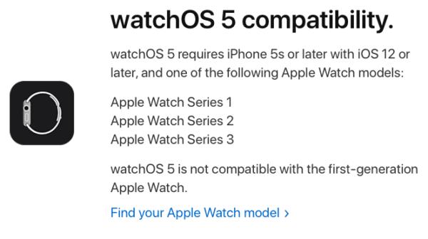 watchOS 5 Compatibility