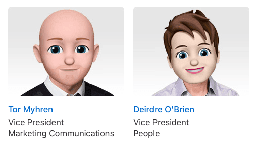 Apple Executive Profiles Memoji-3