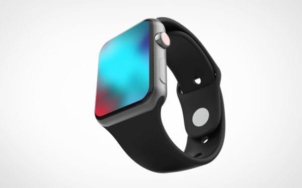 apple watch series 4 concept 600x374 - Ako by mohli vyzerať Apple Watch Series 4 s väčším displejom