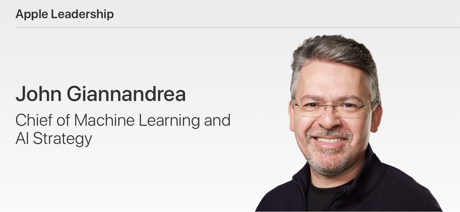 john giannandrea apple leadership - Apple zjednocuje sekcie pre Siri a machine learning pod vedením bývalého šéfa z Googlu