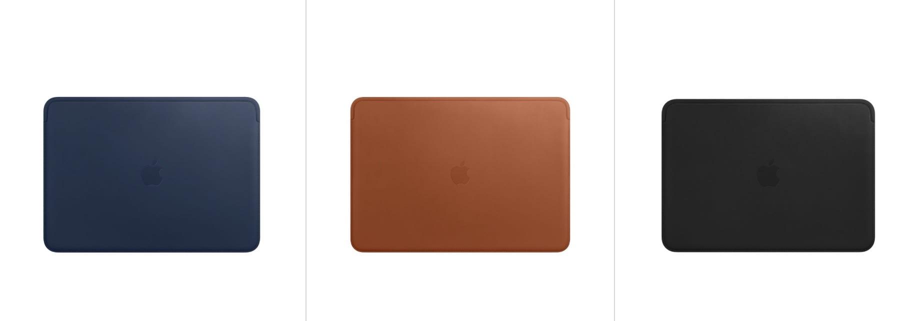 macbook pro 2018 leather sleeve - Dostupné sú nové kožené obaly pre MacBook Pro a MacBook