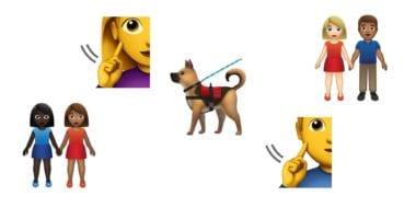 emoji 12 additions 2018 emojipedia 380x190 - Nové emoji pre rok 2019: vodiaci pes, hluchá osoba a viac párov