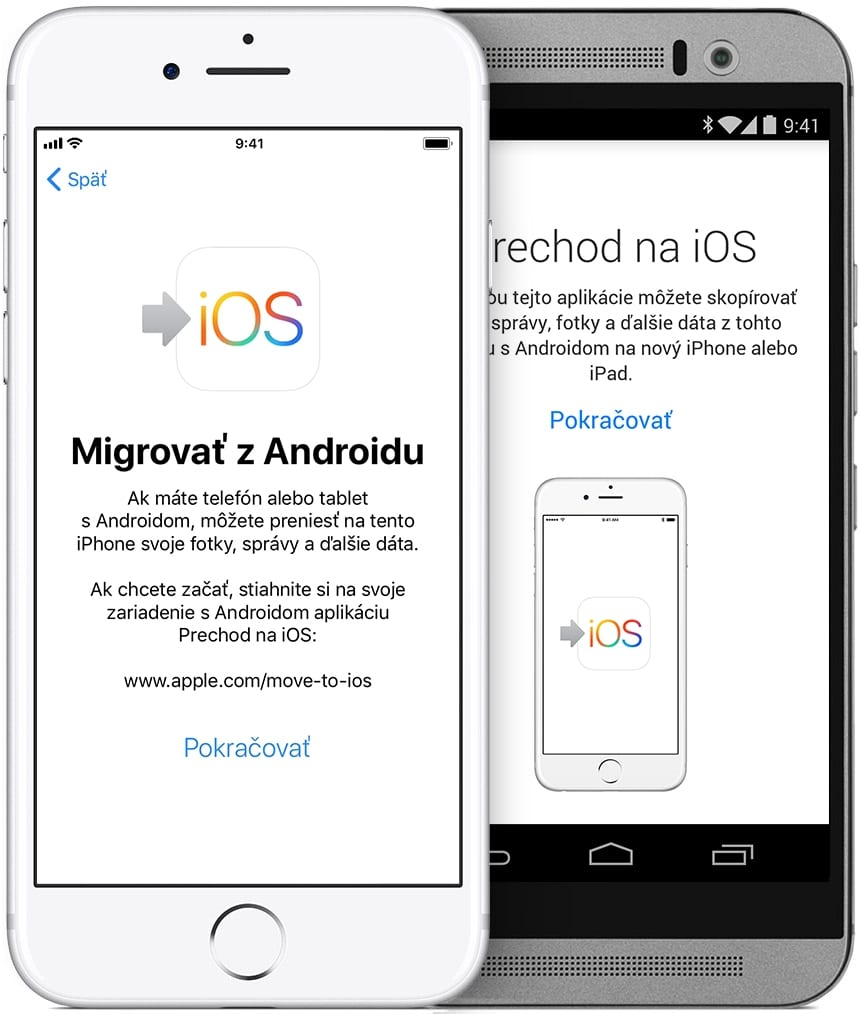 ios11 iphone7 move from android hero - Ako si presniesť dáta zo starého zariadenia do nového iPhonu/iPadu/iPodu touch