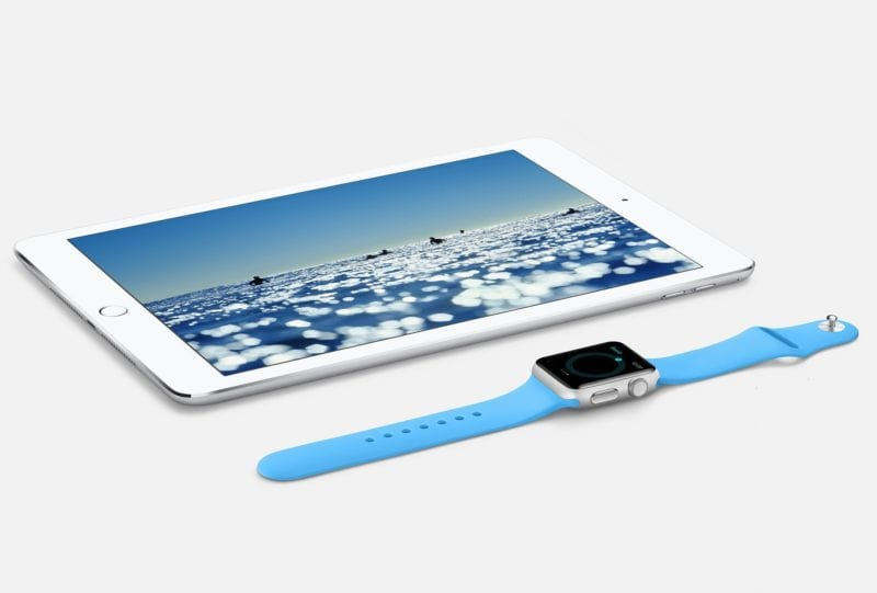 ipad watch 800x541 - Nový iPad mini nebude, Apple Watch 4 si zachovajú kompatibilitu s remienkami