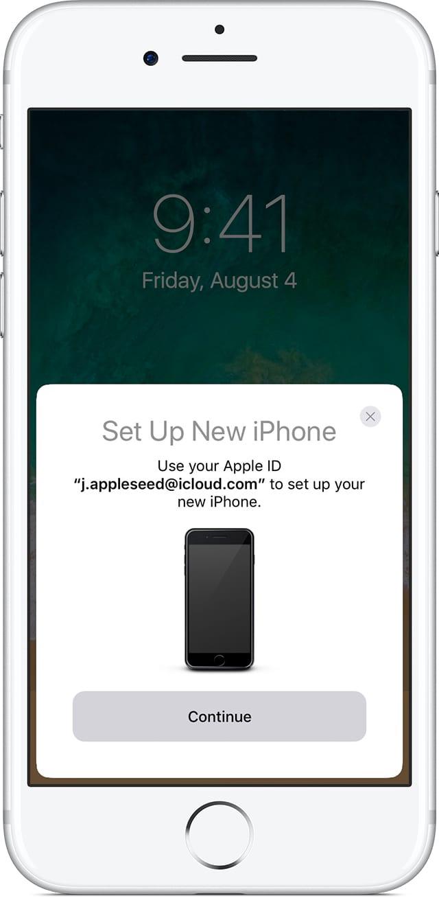 iphone7 ios11 home setup new iphone quick start - Ako si presniesť dáta zo starého zariadenia do nového iPhonu/iPadu/iPodu touch