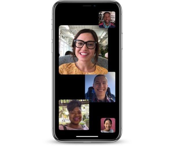 groupfacetime 600x503 - Apple vydal první vývojářskou beta verzi iOS 12.1 se skupinovými hovory FaceTime