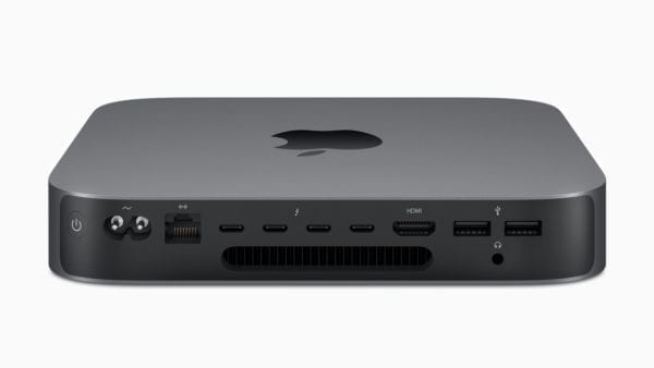 Mac Mini side ports 10302018 600x338 - Mac mini sa vracia na výslnie vo veľkom štýle