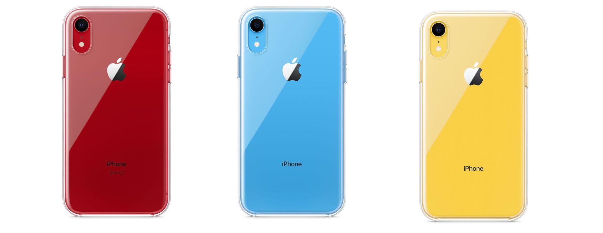 iphonexr clear case colors - Apple konečne začal predávať oficiálny obal pre iPhone XR