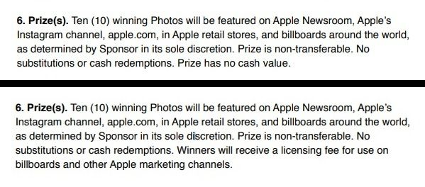 before after apple iphoto contest 2 - Apple mění pravidla své soutěže o nejlepší fotky pořízené iPhonem, výherci nově dostanou zaplaceno