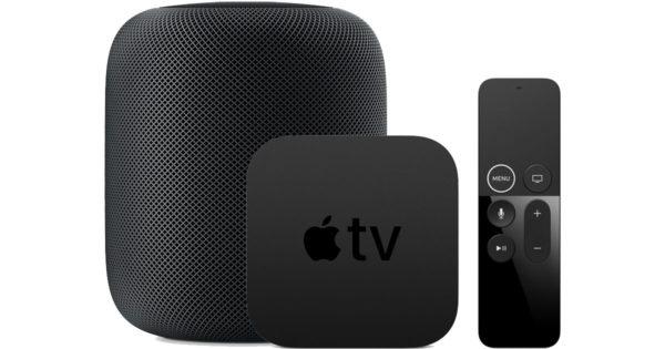 apple tv homepod 600x315 - Gruber: Apple TV sa predáva bez marže, HomePod dokonca pod cenu