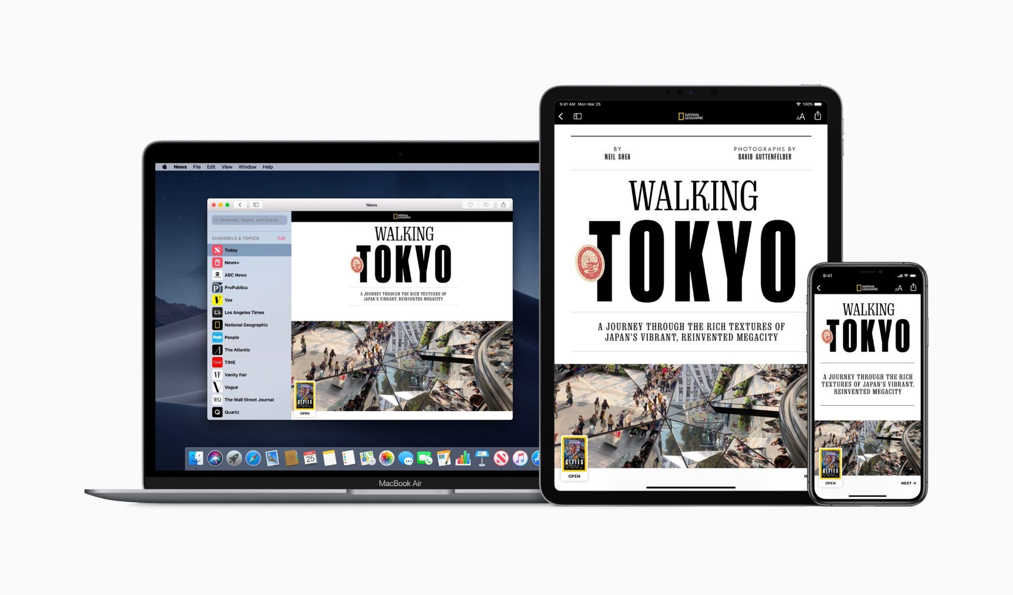Apple news plus natgeo iphone ipad macbook pro screen 03252019 - Časopisová služba Apple News+: 300 časopisov za 10$ mesačne