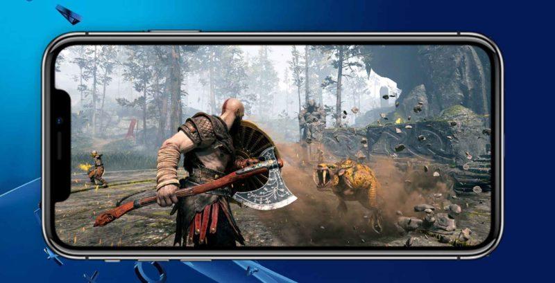 God of War iPhone remoteplay ps4 800x409 - Na PS4 teraz môžete hrať z iPhonu, Sony vydalo iOS verziu Remote Play