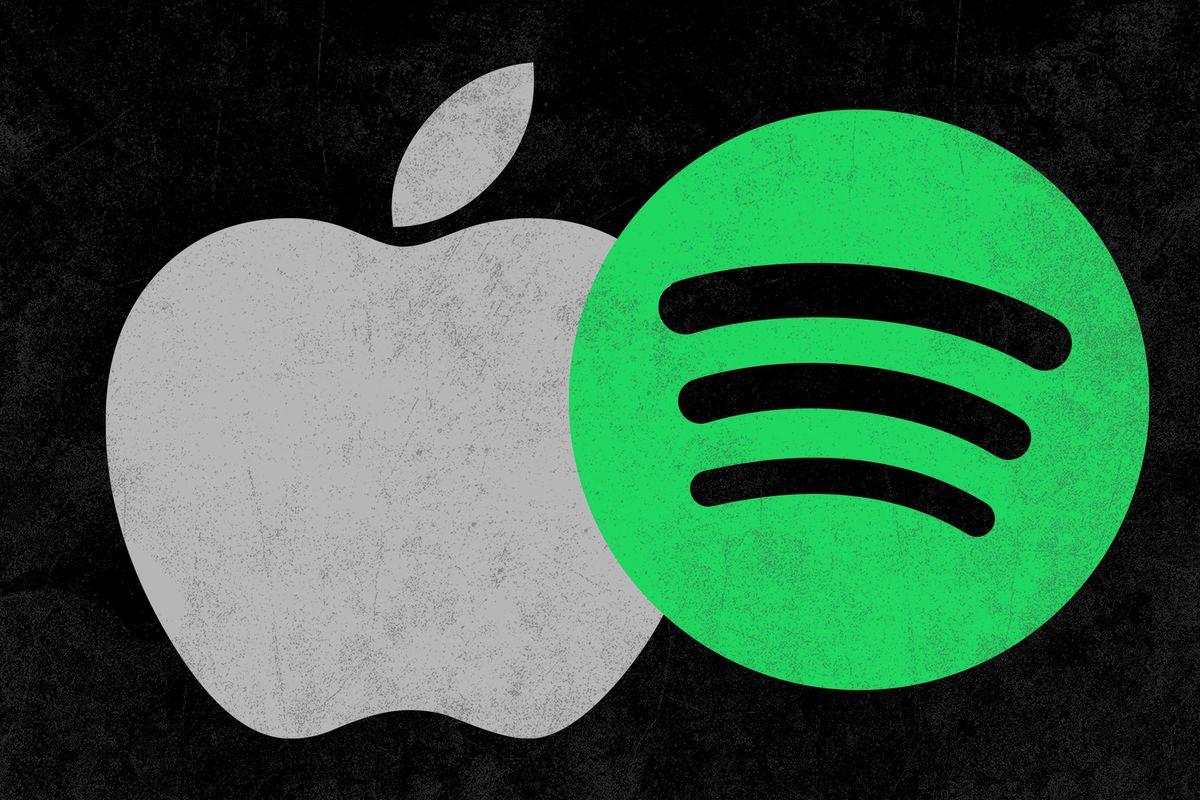 apple spotify logos theringer - Týždeň v skratke: nové iPady, rýchlejšie iMacy, AirPods 2 a mnoho ďalšieho