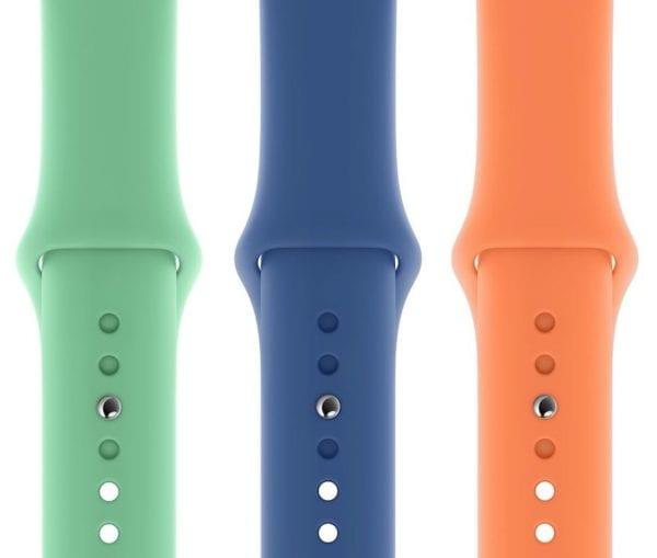 spring sport bands 600x509 - Další novinkou představenou tento týden jsou nové Apple Watch řemínky a kryty